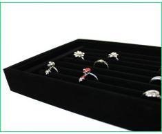 Joyero para Anillos, Elegante, terciopelo, Soporte para anillos