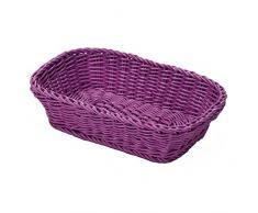 Saleen 020361 201 01 - Cesta rectangular, 26,5 x 19 x 7 cm, color púrpura