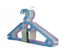 H & L Russel PT1295 - Perchas de plástico con garfios giratorios (10 unidades, 41 cm), varios colores