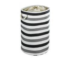 WENKO 35511100 Pongotodo Metropolitan redonda - cesta para la ropa, 75 L, Papel, 40 x 60 x 40 cm, Gris