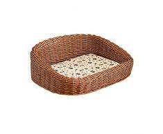 Canasta for Perros Rattan Nesting Dog Cave Bed Dog Pet Nest Nest Padded Bed Bolster Bed for Uso En Interiores Y Exteriores con Colchón De Algodón Jerarquía del Animal Doméstico de la Perrera YUXO