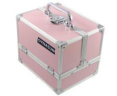 Estructura Beauty Case DynaSun BS35 rosa/Rosa joyas con maletín de maquillaje maletín de maquillaje