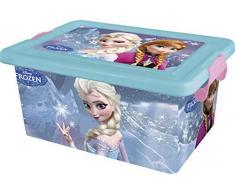 Disney Frozen - Contenedor 7 litros con tapa y cierres, caja organizadora (Stor 04384)