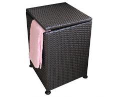 WHH/ Cesta cuadrada, lavadero cubierto, lavandería/mimbre cesta cesto/canasta de sucia ropa caja de almacenamiento/almacenaje