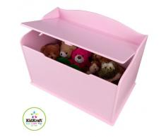 KidKraft 14957 Baúl con tapa para almacenaje de juguetes Austin de madera, muebles para salas de juego y dormitorio de niños - Rosa