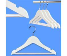 Hangerworld - Perchas De Madera Con Barra Para Pantalones Para Niños Y Bebés, Color Blanco, 30 cm, 48 Unidades