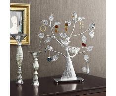 Songmics Soporte de exhibición para joyas, colgador de pie para pendientes, aretes, JDS051