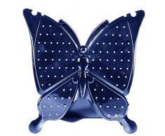 Vococal - 3D Acrílico Exhibición de Joyería/Soporte de Joyas/Estante de Joyería con Diseño de Forma de Mariposa para Pendientes Zarcillos y otras Joyas (Azul)