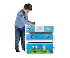 My Note Deco Funny Lane 064575 Canasta caja de juguete y de almacenamiento - cajas de juguetes y de almacenamiento (Toy storage basket, Azul, Independiente, Imagen, Cartón, Metal, Funny Lane)