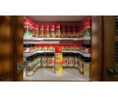 Especiero, estante apilable, organizador de especias con capacidad para hasta 64 especias