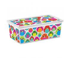 SIK KIS 008407WHTRTZ2 - cajas y cestas de almacenaje (Caja de almacenaje, Multicolor, De plástico, Estampado, Rectangular, De plástico)