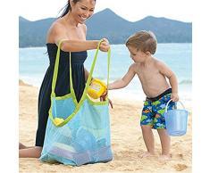 millya extra grande bolso de playa de arena de distancia de malla plegable, bolsa de lavandería y niños 'Toy Bolsa de almacenamiento - perfecto para la playa viaje