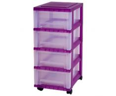 Iris 122,286.0 carro con 4 cajones, edición de escritorio, carro, con 4 cajones contenedor, SDC-004, Púrpura