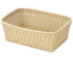 Saleen 02017630101 cesta rectangular para, aproximadamente 46 x 33 x 16 cm, beige claro