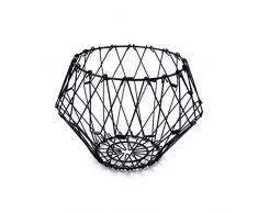 Balvi Frutero Multi Form Color Negro Contenedor Decorativo Ajustable Metal
