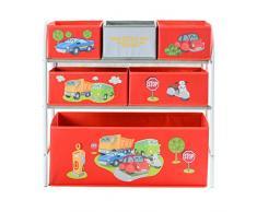 My Note Deco City Road 064586 Canasta caja de juguete y de almacenamiento - cajas de juguetes y de almacenamiento (Toy storage basket, Rojo, Color blanco, Independiente, Imagen, Cartón, Metal, City Road)