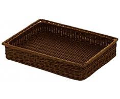 Saleen 02097106101 cesta rectangular para 40 x 30 x 7 cm con marco de metal, marrón