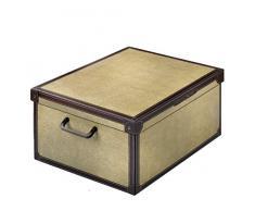 Caja de almacenamiento práctico y decorativo con mango y tapa tapirus diseño