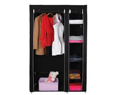 SONGMICS Armario de tela para Closet organizador Textil Plegable Color Negro 175 x 110 x 45 cm LSF007