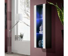 Muebles Bonitos - Armario Colgante modelo Zarco en color Negro y blanco