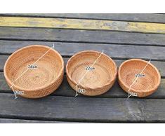 Canasta de bambú Cesta de fruta de almacenamiento de ratán bollos de pan de caramelo dim sum bandeja de almacenamiento de mesa de café cesta de almacenamiento de ratán cesta de almacenamiento de información cosmética de almacenamiento