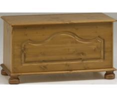 Non Branded 10238034 - Baúl de almacenaje de Madera de Pino con Patas Redondeadas, 82 x 41 x 45 cm Aprox, Color marrón