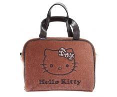 Hello Kitty leopardo lazo bolsa de aseo y para maquillaje, diseño de