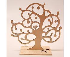 Joyas soporte de madera diseño de árbol de abedul, T1, color natural