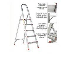 ORYX 23010004 Escalera Aluminio Oryx 6 Peldaños Doméstica