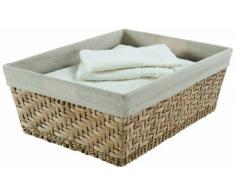 Rangement & Cie Fiesta Grand Cesta, Metal, Natural, L