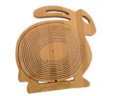 Cesta plegable Frutero De Bambú Madera Obstkorb Dekoschale Conejo plegable