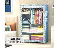 WJP modernos armarios simplificada de tela de refuerzo de bricolaje armario ropero W-492