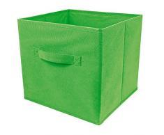 Top Home Solutions - Conjunto de 2 cajas de almacenamiento en forma de cubo, plegables, para habitaciones juveniles, dormitorios o despachos