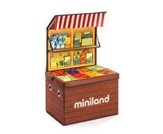 Miniland- Market Box: Baúl de almacenaje Convertible en supermercado (97099)