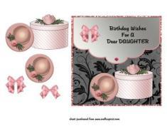 Rosa sombrero y caja – hija por Lorna Quinney