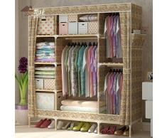1.5S o alquilar una habitación en negrita de refuerzo de madera armario ropero tela Oxford fácil admitir el armario , Ancho 150cm* profundo 45cm* 170cm de alto.