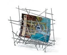 Alessi - Blow Up FC15 - Revistero para Revistas de Diseño, 1 Compartimento, en Acero Cromado Brillante