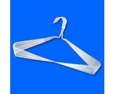 Hangerworld - Perchas Lisas De Metal Galvanizado, Color Blanco, 40 cm, 100 Unidades
