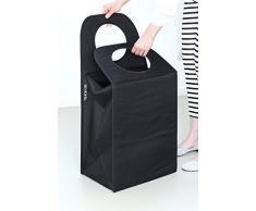 Brabantia 101762 - Bolsa rectangular para la colada, color negro