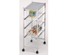 Carrito de cocina de metal compra barato carritos de for Carro frutero cocina