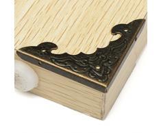 fomccu esquina protector de esquina latón envejecido para joyería de madera caja de regalo 12 unidades