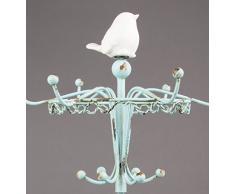 Sass y porcelana Belle/hierro Robin perchero de pie de soporte para joyas, Multi-color