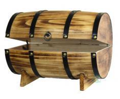 El cofre del tesoro de manera rápida las importaciones barril de madera