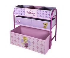 My Note Deco Fashion Girl 064562 Canasta caja de juguete y de almacenamiento - cajas de juguetes y de almacenamiento (Toy storage basket, Rosa, Independiente, Imagen, Cartón, Metal, Fashion girl)