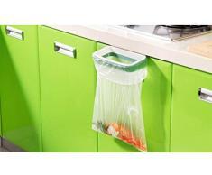 Demarkt armario cocina gabinete puerta posterior del soporte de almacenamiento de basura Bolsas estante