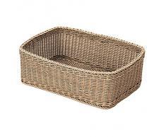 Saleen 02017504101 cesta rectangular para, Aproximadamente 45 x 33 x 16 cm recto laterales, beige