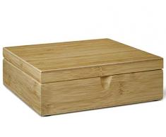 Bredemeijer - Caja para Bolsas de té (6 Compartimentos, sin Ventana, Madera de bambú)