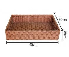 WHH/ Falso bambú y el ratán cesta cocina/baño preparado bambú canasta/cesta/almacenamiento canasta , large red brown