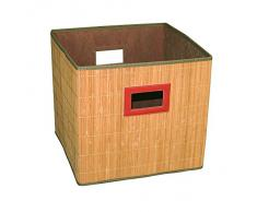 MSV Cajon PONGOTODO Plegable DE Bambu, Beige, 33x32x31 cm