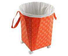 Versa 19485338 - Cesto para la ropa con 4 ruedas, color naranja